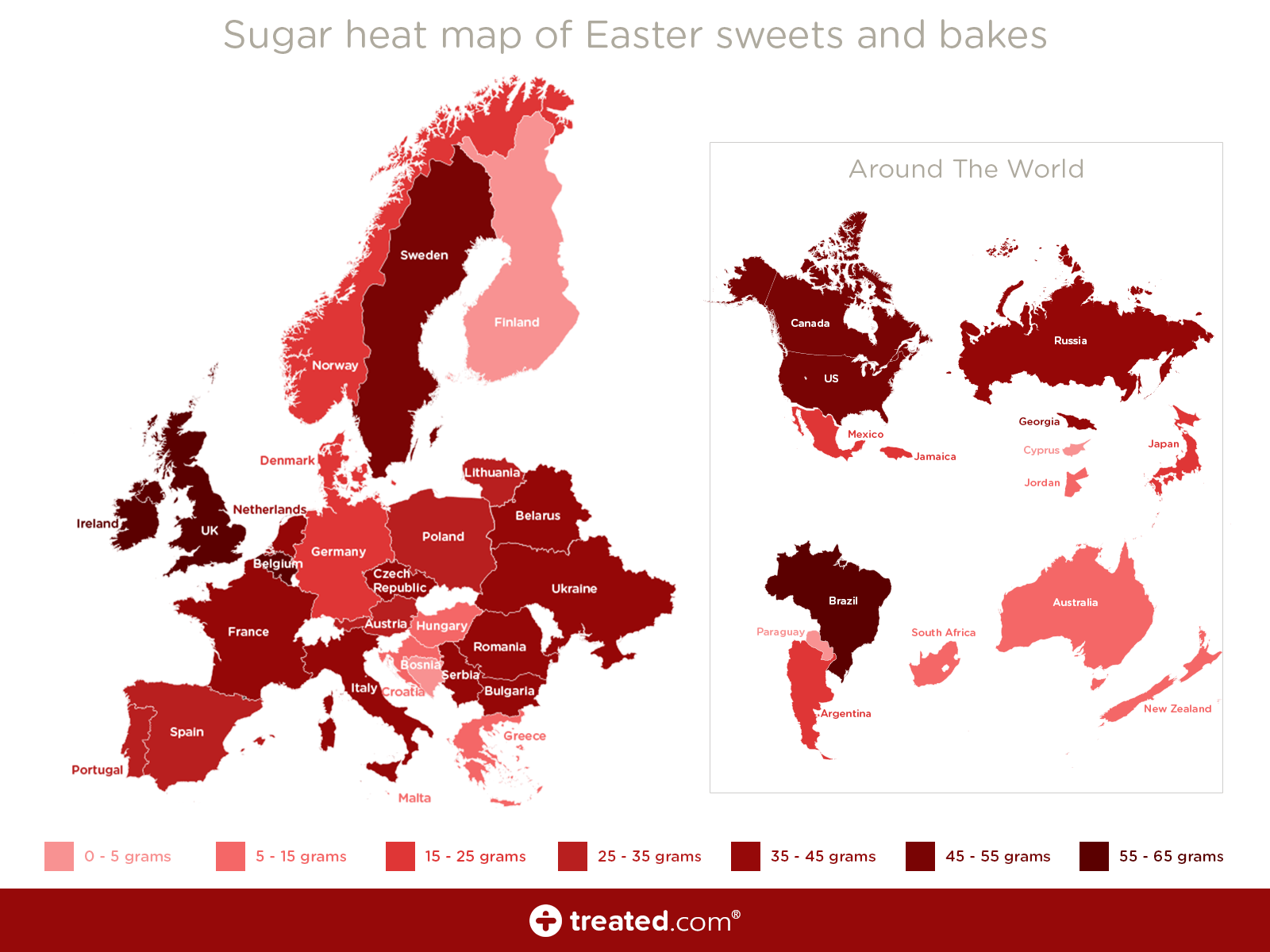 Easter Sugar Map