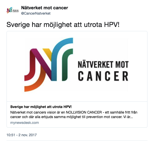 Na ̈tverk Cancer