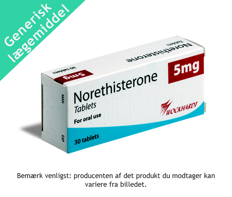 Norethisterone - udskyd menstruation